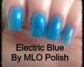 Electric Blue Nail Polish - Handmixed  12ml bottles