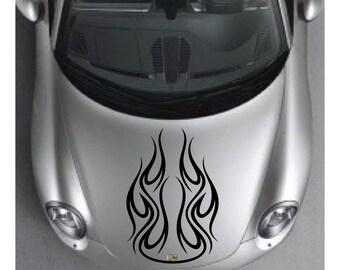Flames Car Hood Decal sticker wall art graphics tribal paint auto truck design AA83.36