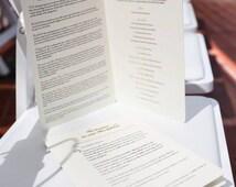 Jewish Wedding Programs
