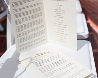 Jewish Wedding Programs