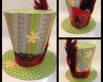 Mini Mad Hatter Hat (Stripes & Puzzles)