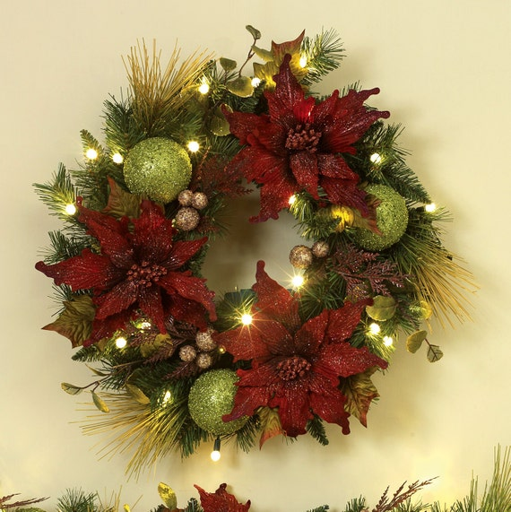 Custom Christmas Wreaths By SSMyShop On Etsy