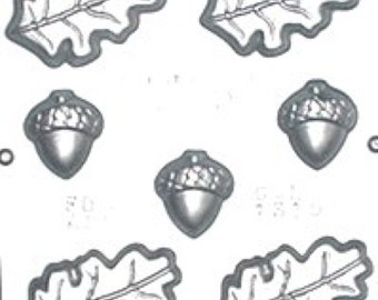 Oak Leaves and Acorn Chocolate Candy Mold 1315