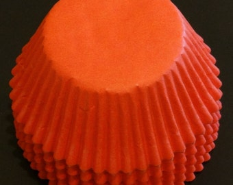 FREE SHIP! Orange Baking Cups Approximately 100 Cups.