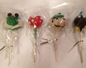 Super Mario Brothers Inspired Cake Pops
