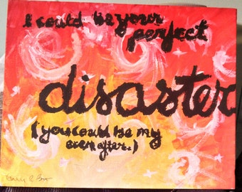 Marianas Trench - Ever After lyric painting