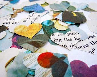 Vintage Book Confetti - 100 Piece - Heart Confetti - Table Decor - Vintage Children's Book - Party Decor  - Baby Shower Decor