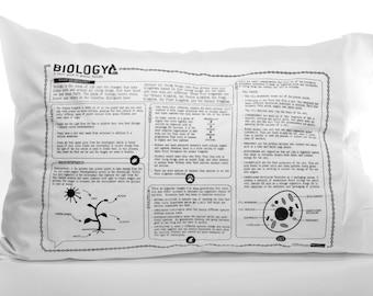 Biology Printed Study Pillowcase