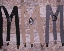 Boys Suspenders, Toddler Suspenders, Ring Bearer Gift, Groom, Boy,s Suspenders, Baby, Kids, Ring Bearer Gift, Black, Grey, Tan, Navy
