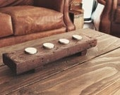 Rustic wooden tea light holder