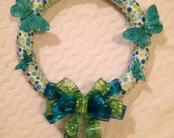 Spring Wreath, Summer Wreath, Butterfly Wreath 16'' inches