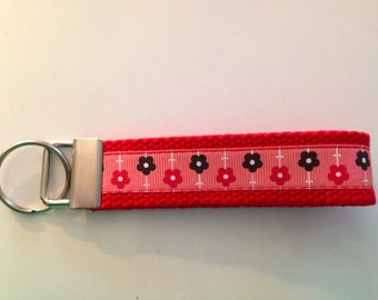 Key Chain- red flowers