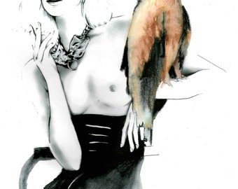 Original fashion illustration print.