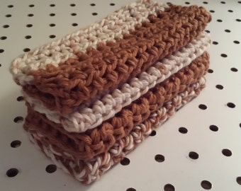Crocheted Dish Rags/ Pot Holders (Two each)