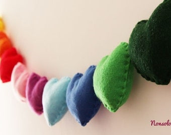 Rainbow hearts Garland ...