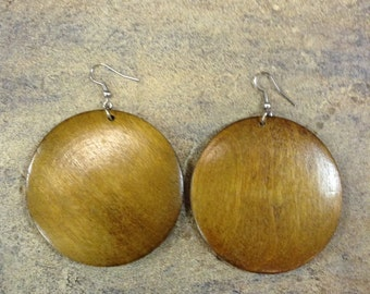 African Wood Earrings (Free Shipping)