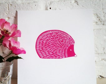 Little Hedgehog: A papercut now available as a print