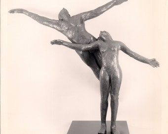 """Interplay - Unique, One of a Kind Figurative Sculpture Cast in Bonded Bronze.  39"""" x 50"""" x 18"""".  50 pounds"""