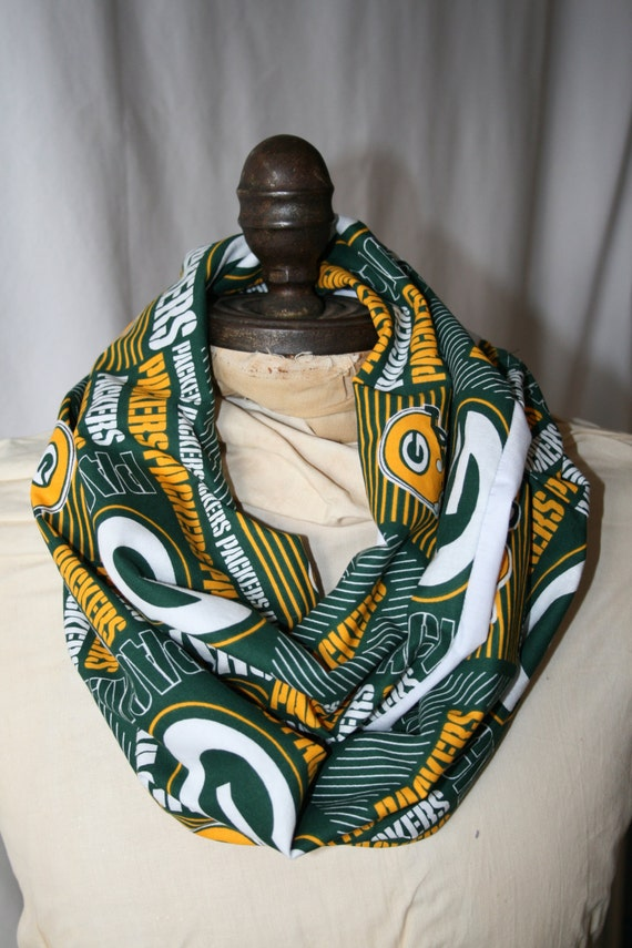 items similar to nfl green bay packers infinity scarf on etsy