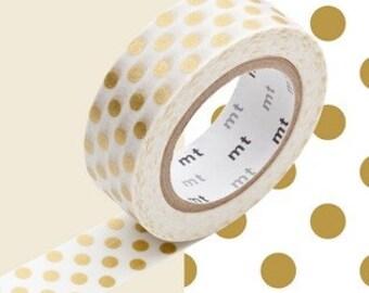 MT Washi Tape -  Gold Dot - gold dotty washi tape by mt masking tape