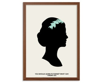 Downton Abbey | Forget What I Say Poster : Lady Mary Modern Illustration TV Series Retro Art Wall Decor
