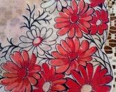 Vintage Pink Flower Handkerchief