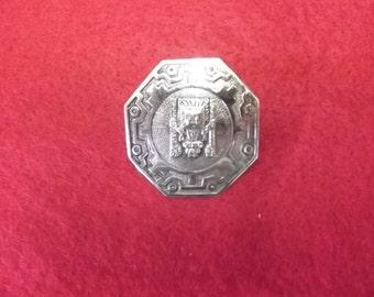 """Mid Century 925 silver brooch, """"Peru 925 GC"""""""