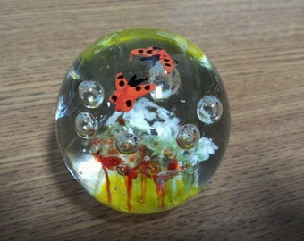 HD Designs Art Glass Hand Blown Colorful Paperweight Decor