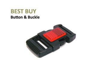 """10 pcs Plastic Reflection Side Release Buckles 1"""" #PH399"""