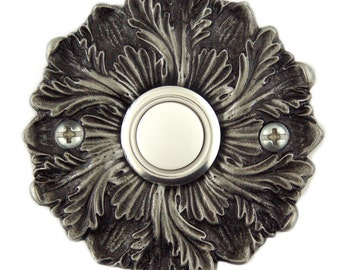 Rosette decorative Doorbell button cover with lighted button.Free shipping on your second item!