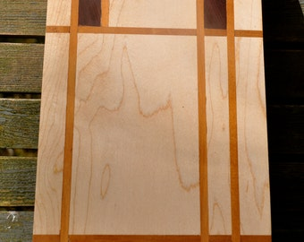 Walnut, Cherry & Rosewood       -       Cutting Board (Piet Mondrian Inspired)