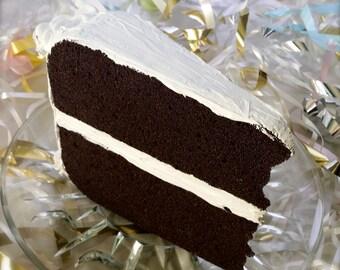 Jumbo Mailable Chocolate Cake Postcard White Frosting