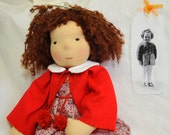Made to order - waldorf doll 45 cm (18 inch) made by old foto or custom made