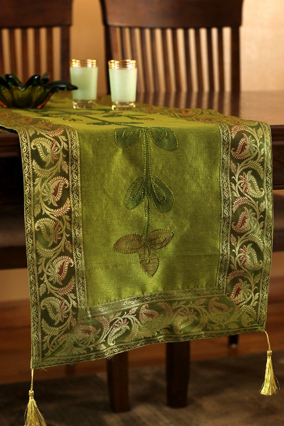 Hand painted 120 inch by 17 inch long table runner citrus for 120 inches table runner