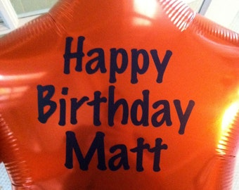 Personalized Birthday Balloon