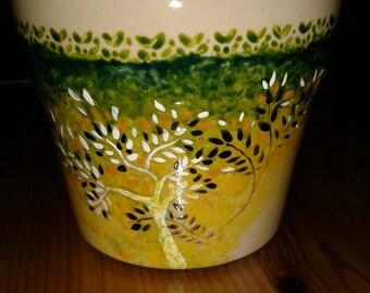 Autumn-flower pot
