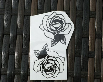 temporary tattoos of 2 roses