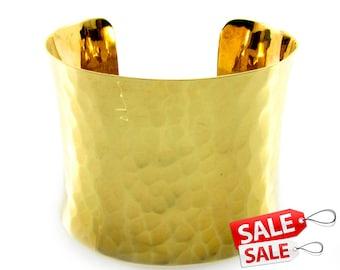 Gold Cuff Bracelet Gold Bracelet Cuff Hammered Brass Cuff Bracelet Brass Bracelet Cuff Wide Cuff Bracelet Gold Hammered Bracelet Cuff 048