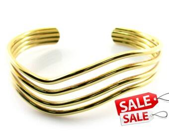 Gold Cuff Bracelet Gold Bracelet Cuff Gold Brass Cuff Bracelet Gold Brass Bracelet Cuff Gold Curve Bracelet Cuff Curve Cuff Bracelet 040