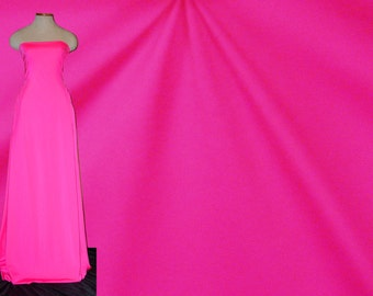 Stretch Fabric By The Roll Shiny Stretch Fabric - Neon Pink Fabric, Four way Stretch Spandex Fabric Item# RXPN-92209R