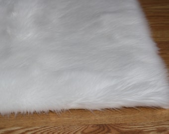 4u0027 x 6u0027 pure white soft faux fur rug nonslip anti - Faux Fur Rugs