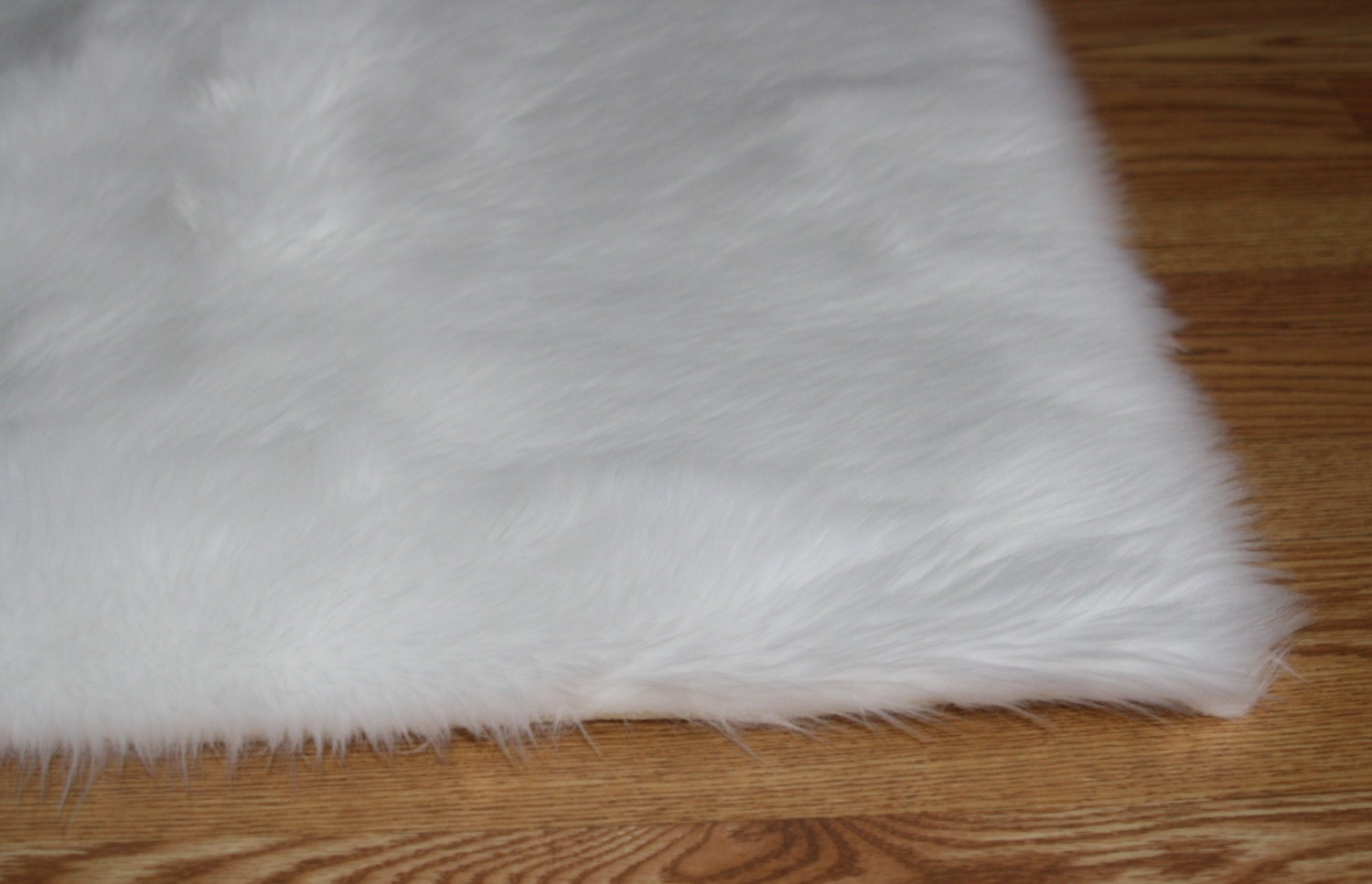 5 39 x 8 39 pure white soft faux fur rug non slip anti for Tapis de fourrure blanc ikea