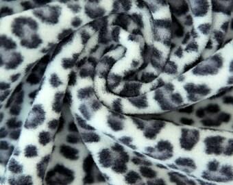 Fleece Fabric Leopard Gray By The Yard