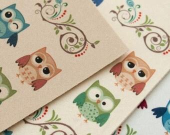 """Felt 11.81"""" x 21.65"""" (30 cm x 55 cm) Owl in 3 Colors"""