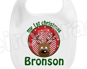 Personalized Christmas Bib ~ First Christmas