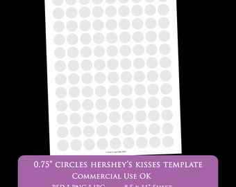 free hershey kisses labels template - hershey kiss circles etsy