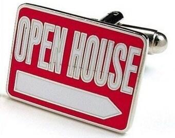 Realtor Open House Realty Cufflinks Cuff Links