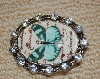 Butterfly Cameo Hair Clip