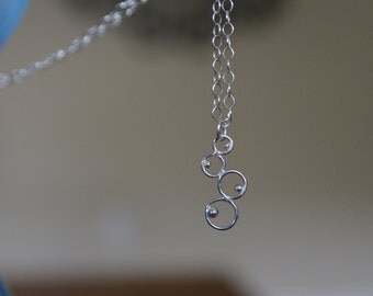 Handmade Sterling Silver 4 Circles Necklace on a Sterling Silver Chain