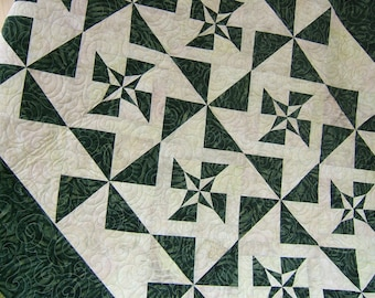 Bed Quilt, Lap Quilt,  Patchwork Quilt, Handmade Quilt, Quilted Throw, Quilted Blanket,